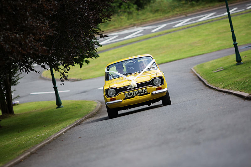 Ford escort at Weston Hall