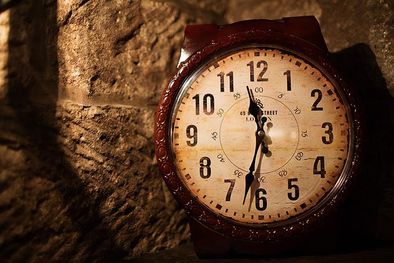 a clock at Weston Hall