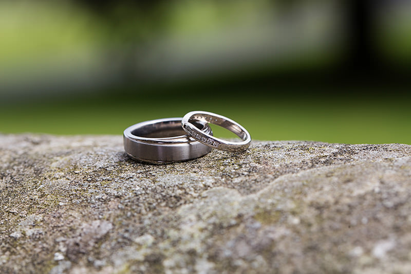 wedding rings at Weston Hall