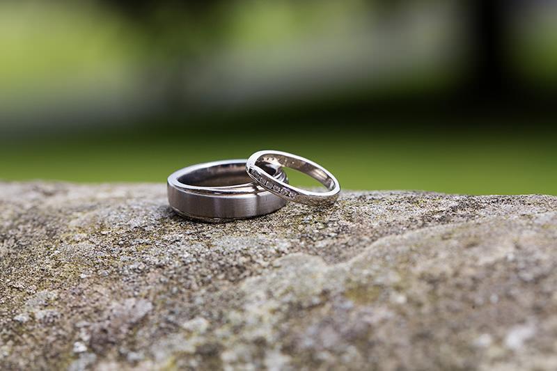 wedding rings at Weston Hall