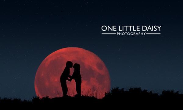 super moon silhouette