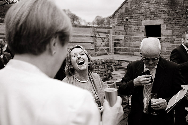 Documentary photography at a wedding