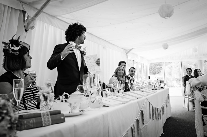Wedding Speeches at The Heath House