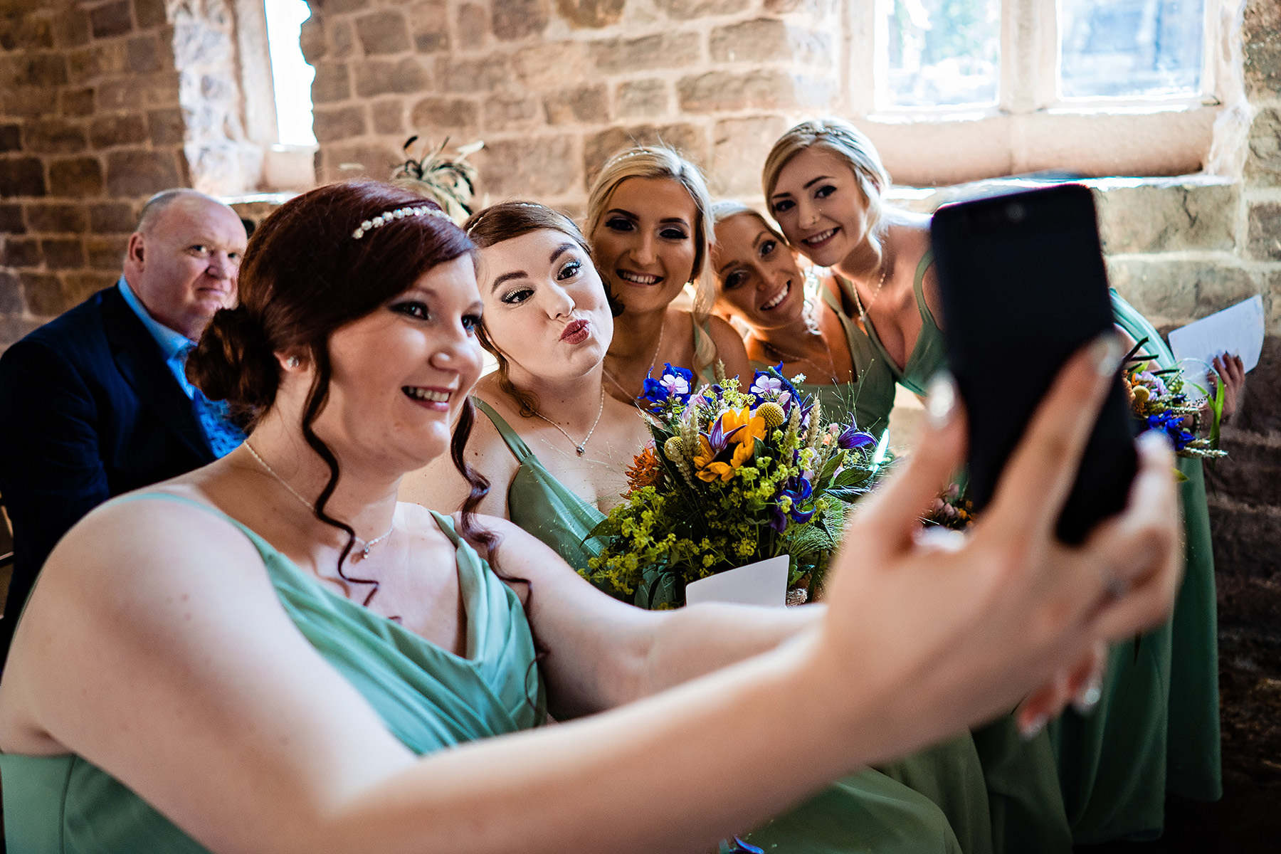 a selfie from the bridesmaids