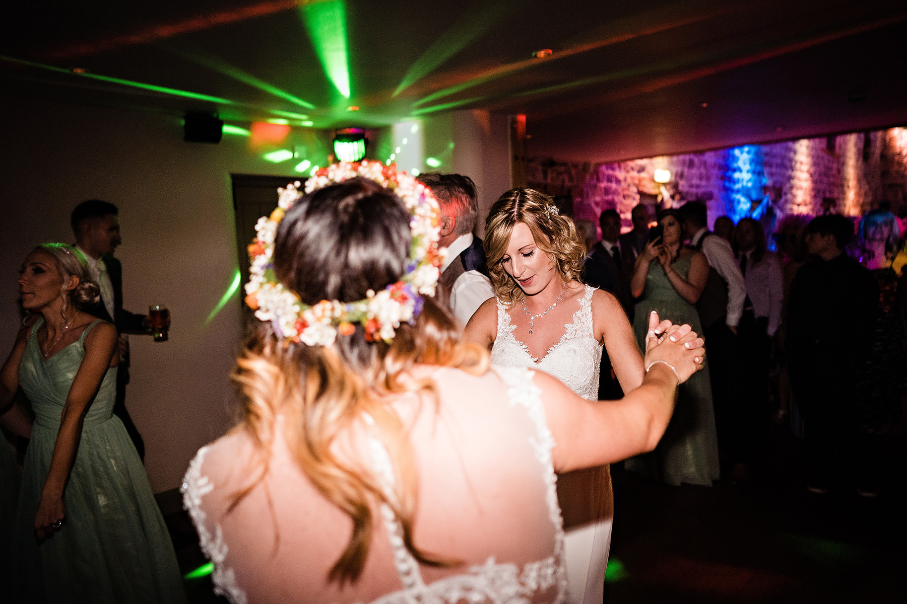 dance floor action during the wedding at The Ashes