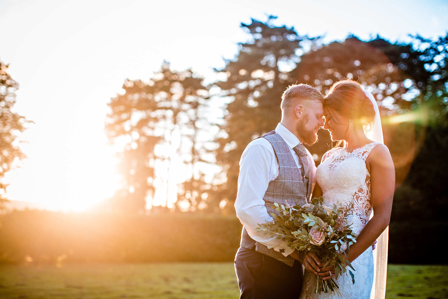 Beautiful sunset at The Heath House Wedding Photography