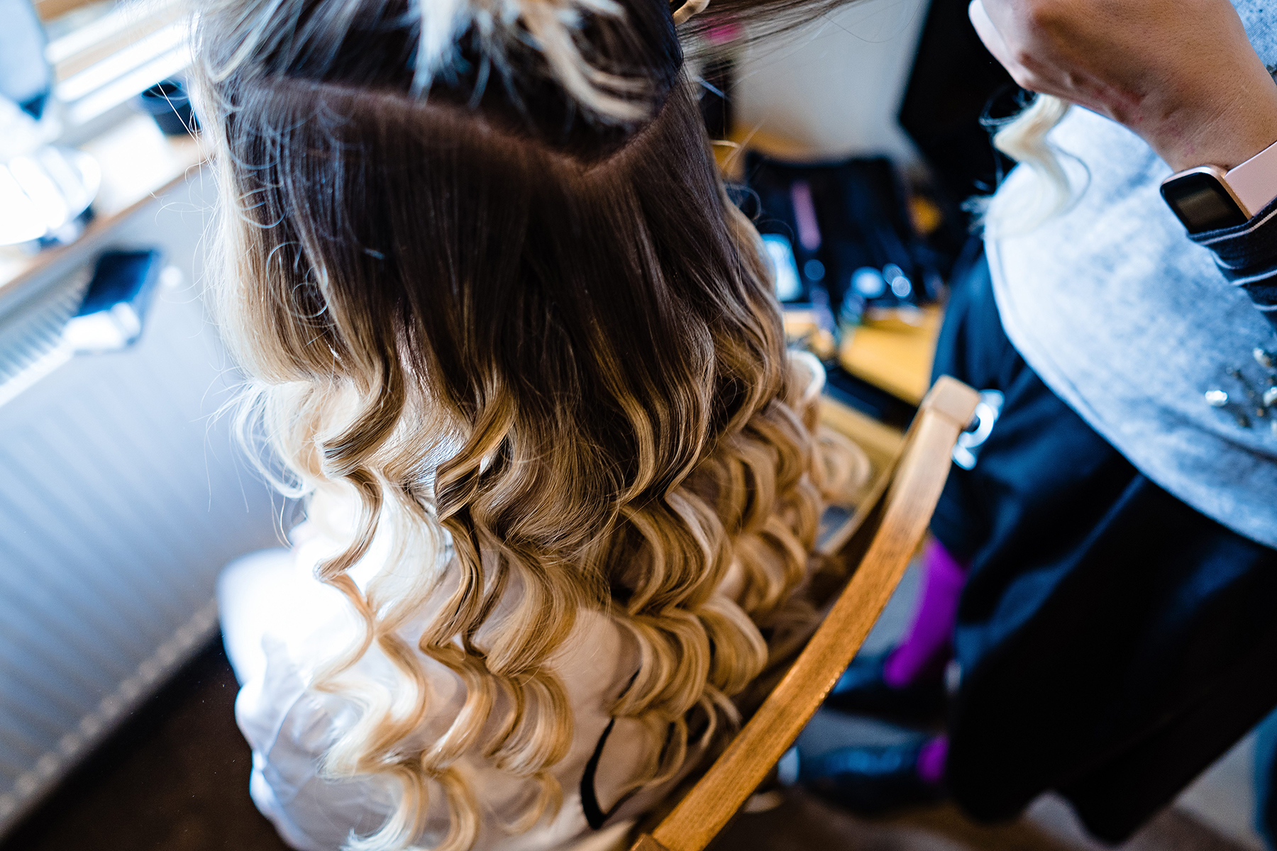 Bridal prep documentary photography