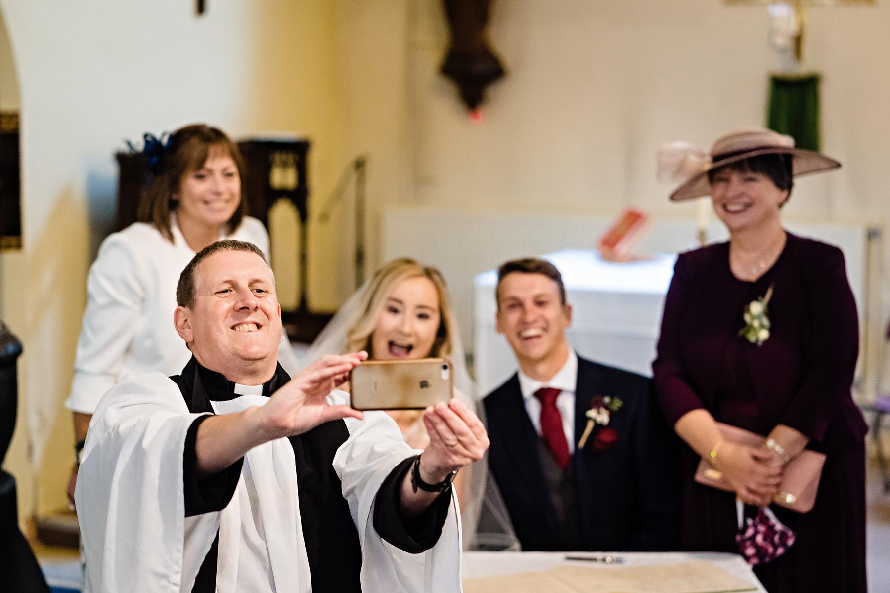 Vicar selfie