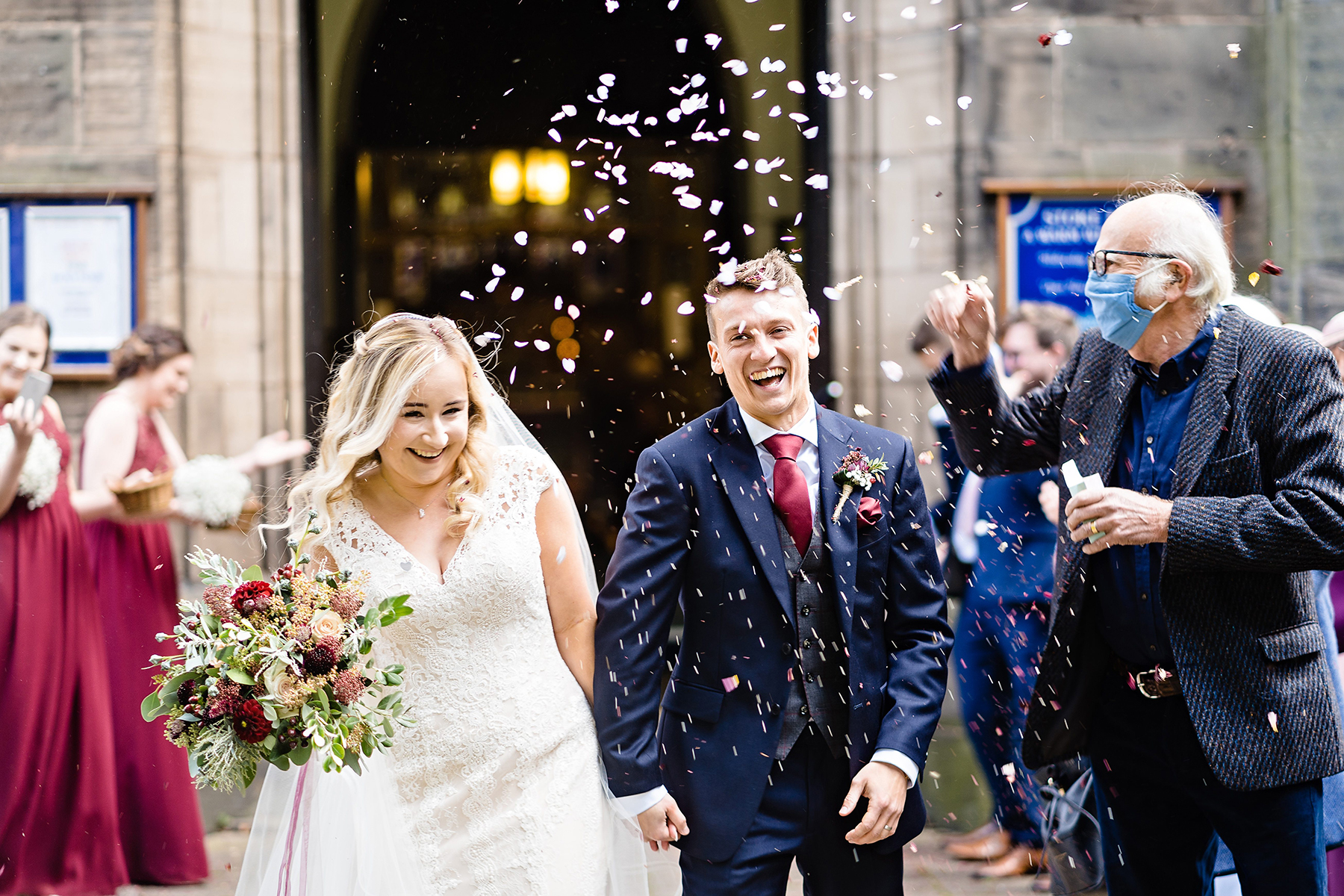 Confetti Bride and Groom Wedding Photography