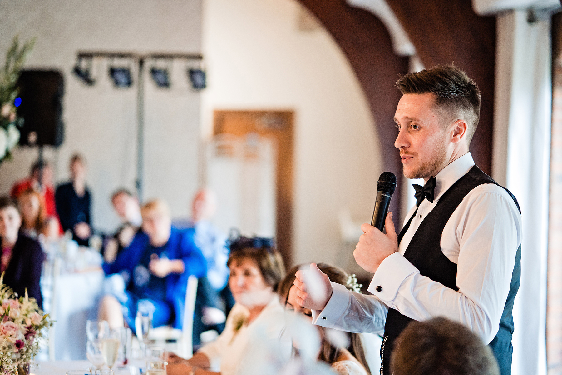 groom doing his speech