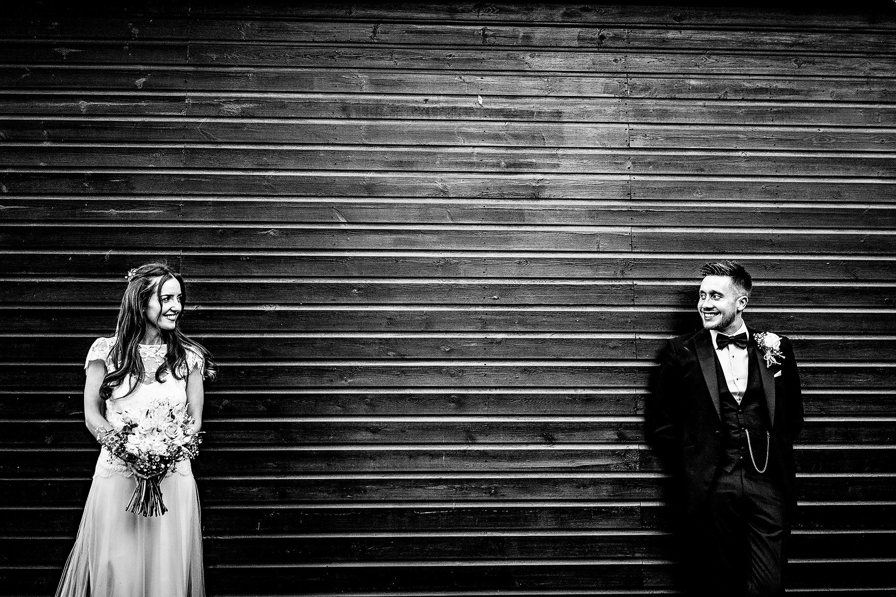 bride and groom wedding photography at Colshaw Hall