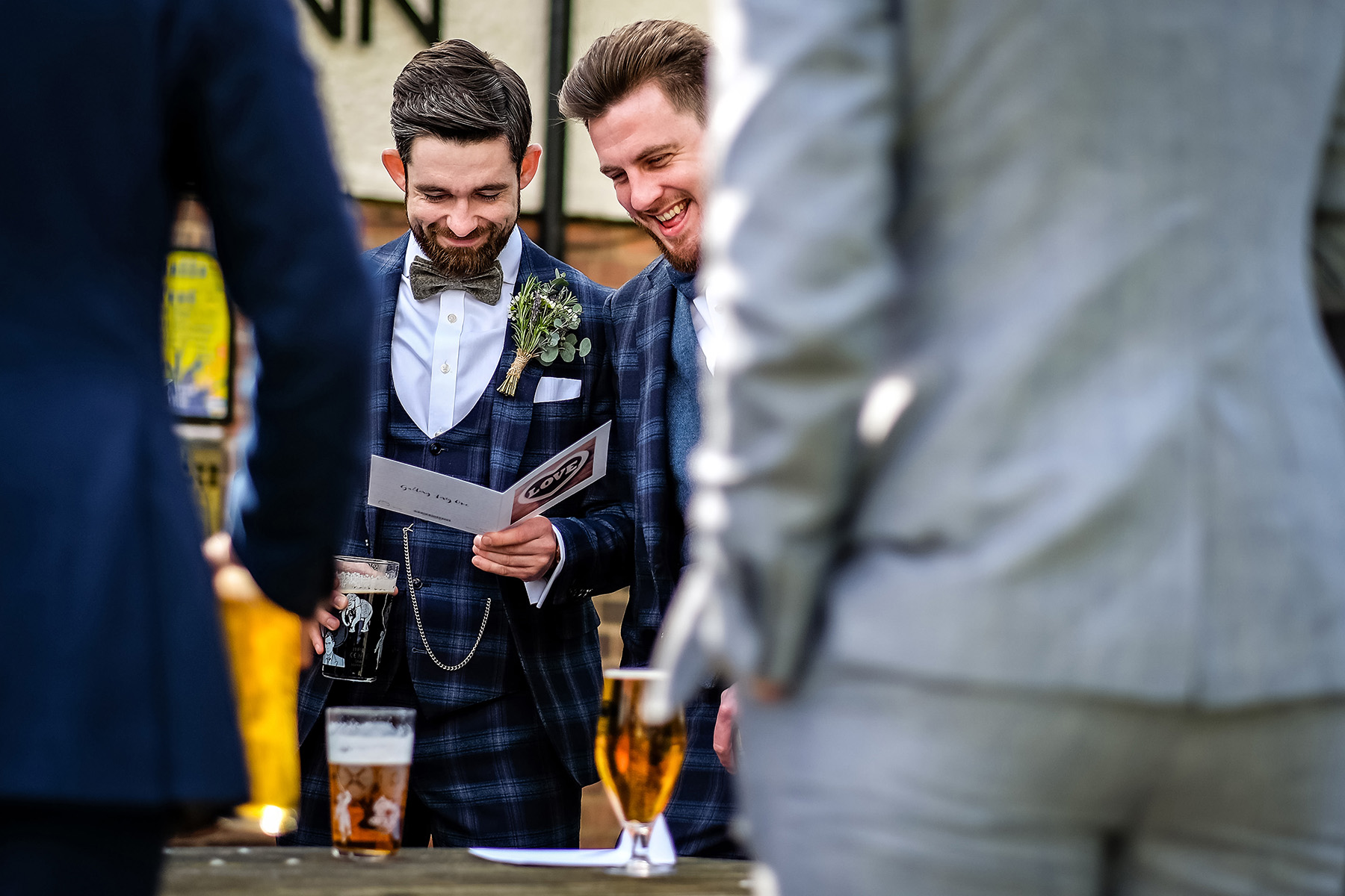 Groom at Dog and Doublet pub