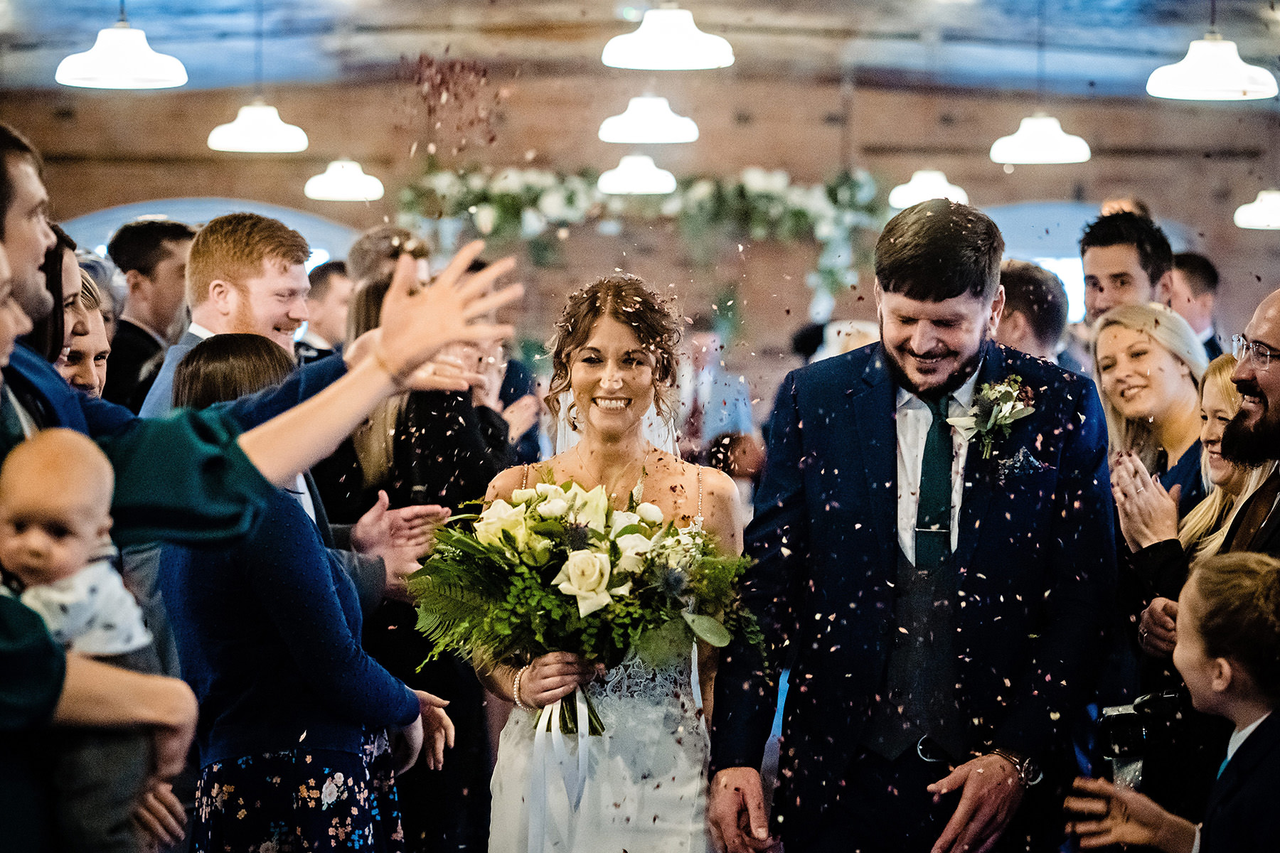 confetti throw at the West Mill
