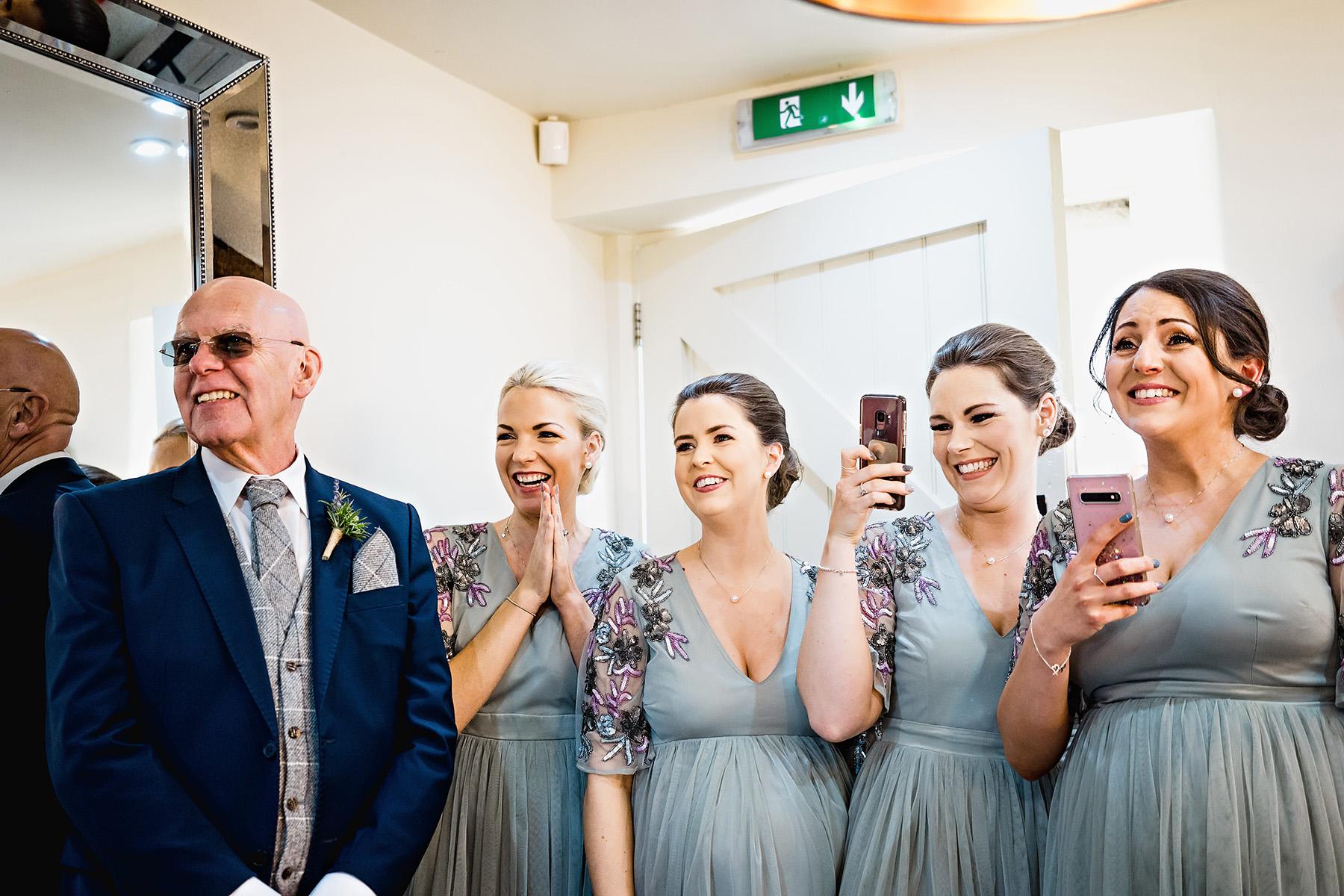 Bridal prep at The Ashes Wedding Venue