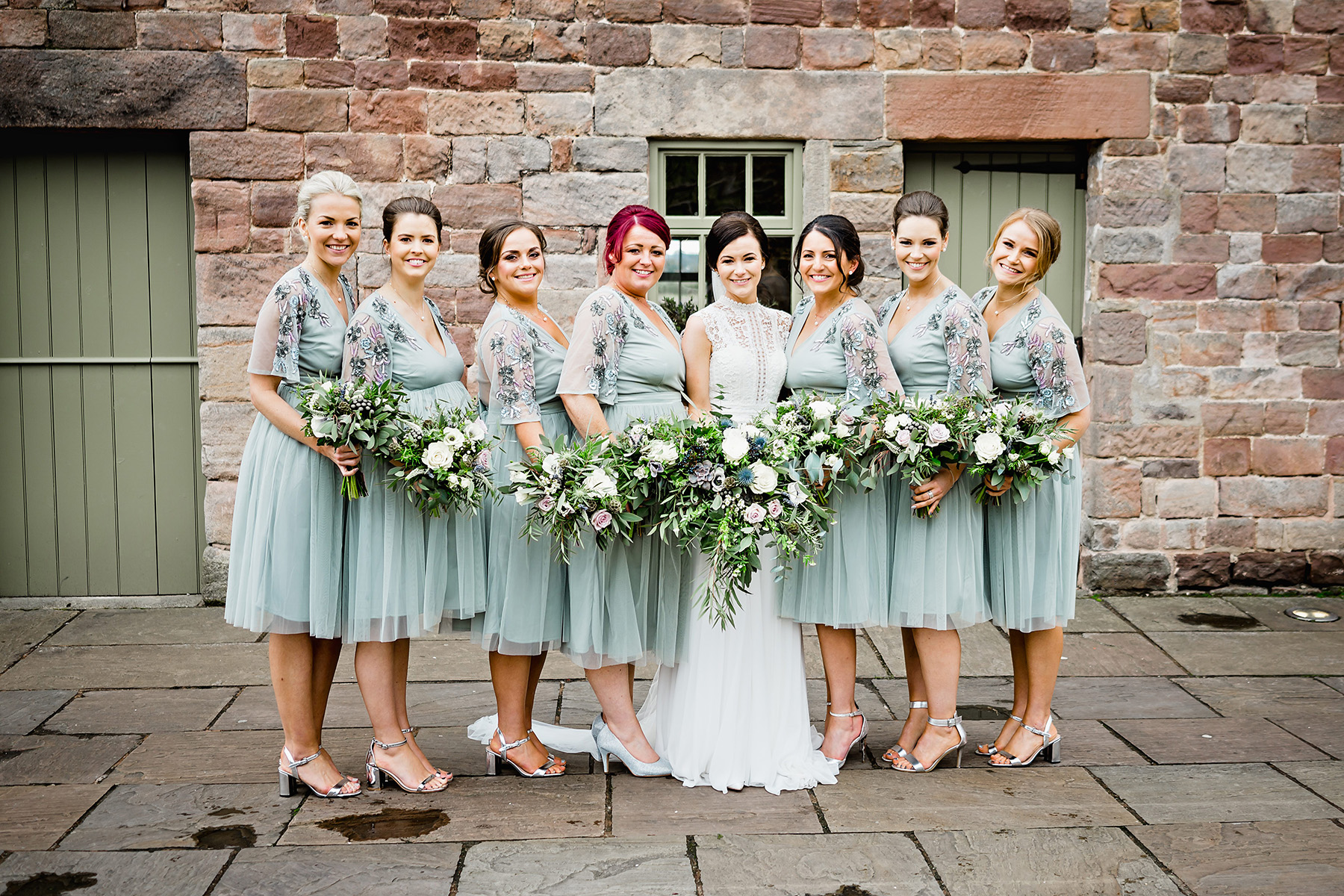 Bridal Party at The Ashes Wedding Venue