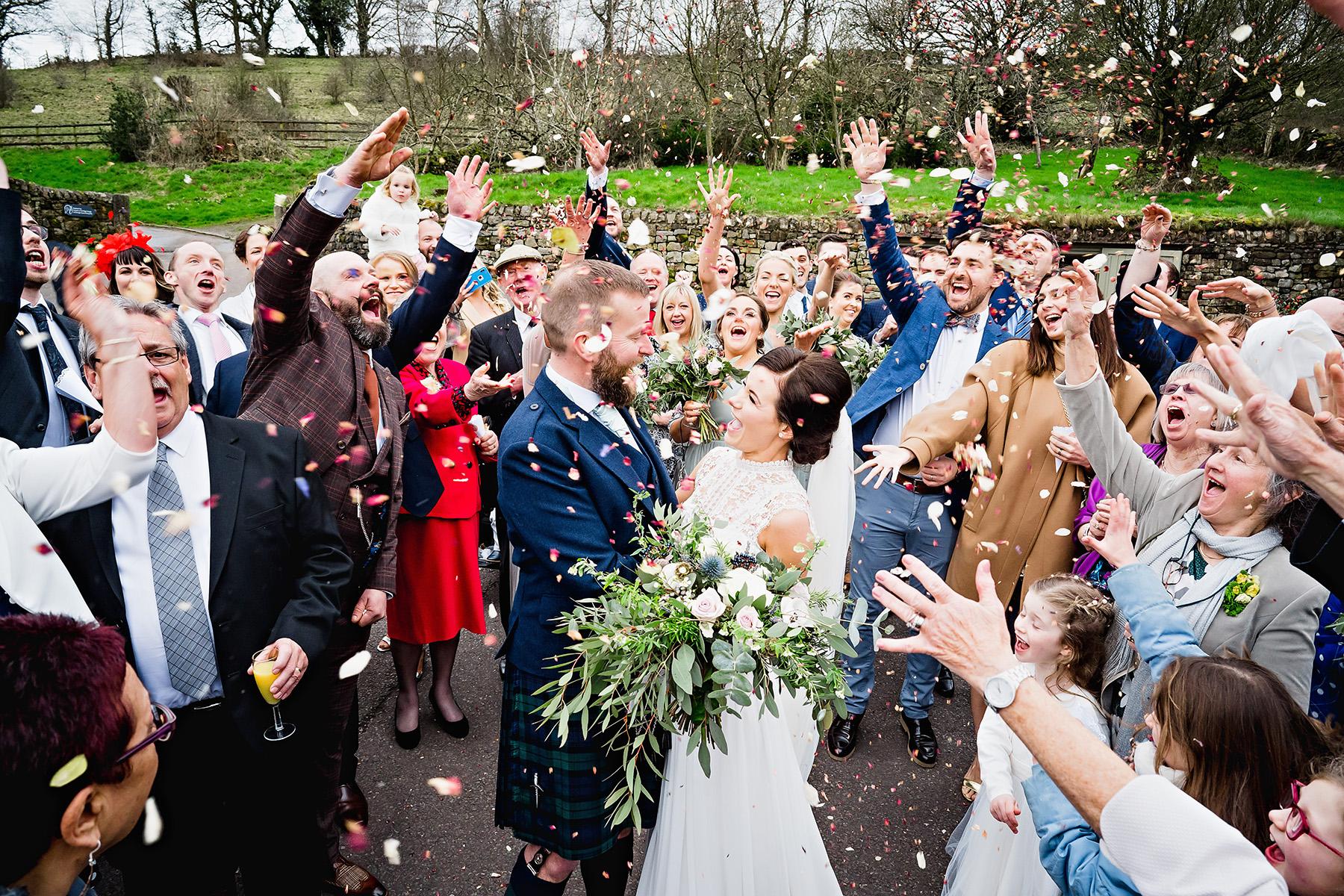 Confetti at The Ashes Wedding Venue