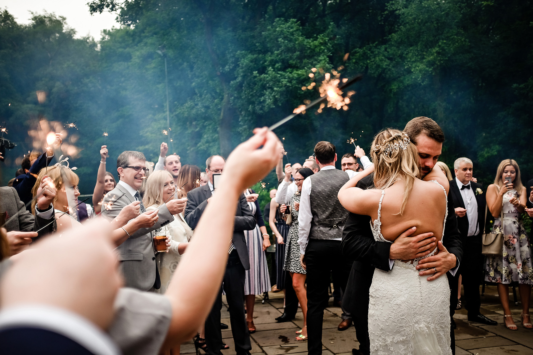 the first dance outdoors at Moddershall Oaks