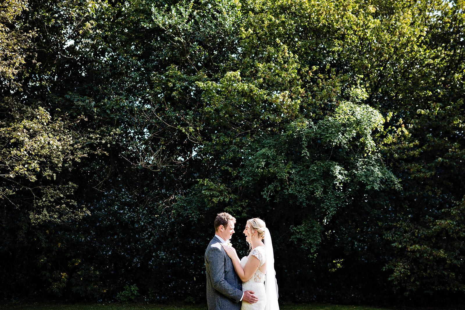 Dunwood Hall Wedding Photography of bride and groom