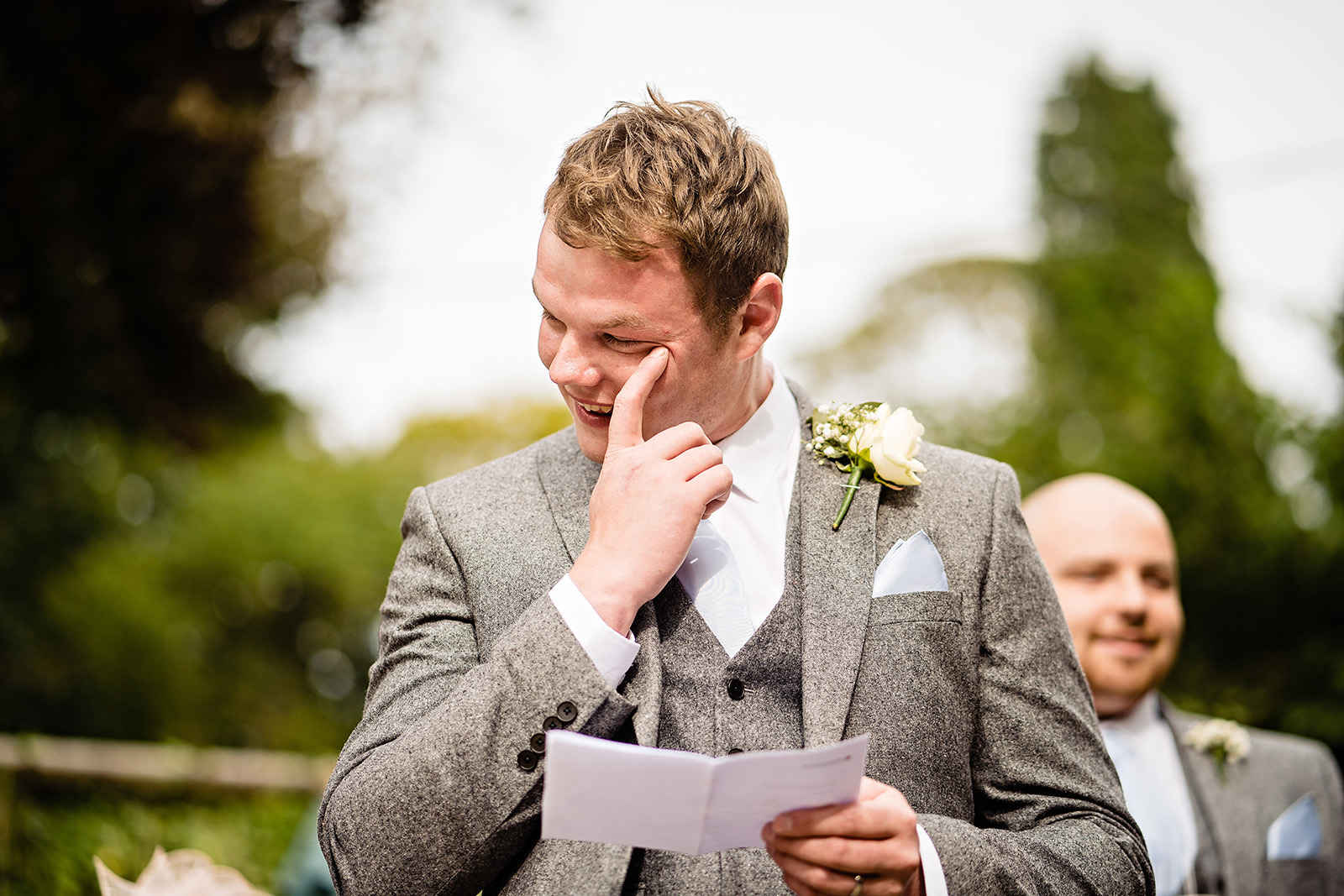 Speech for groom Dunwood Hall Wedding Photography