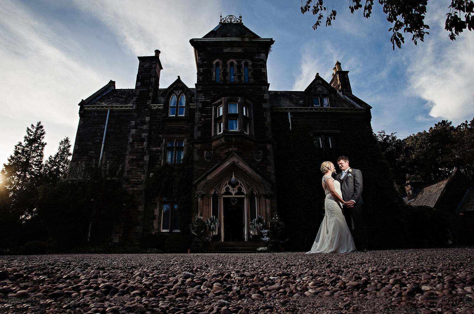 Dunwood Hall Bride and Groom Wedding Photography