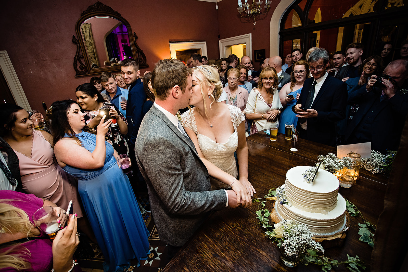 Cake cutting at Dunwood Hall
